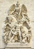 Arc de triomphe, paris ayrıntıları — Stok fotoğraf