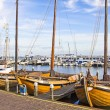 Old boats in the port of Volendam, The Netherlands — Stock Photo