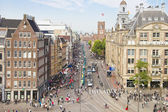 Aerial view of the Dam square, Amsterdam — Stock Photo