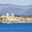 View of Antibes from the sea, France — Stock Photo