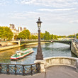 Stock Photo: Paris and Seine, France