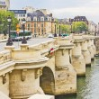 Stock Photo: Bridge in Paris, France