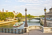 Paris and the Seine, France — 图库照片