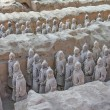 Terra cotta warriors excavation - Stock Photo