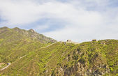 Panoramic view of the Great Wall of China — Stock Photo