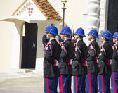 The military force performing the Change of Guard in Monaco — Stock Photo