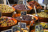 Olives in a street market — Stock Photo