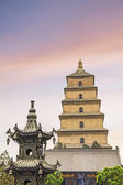 The famous Giant Wild Goose Pagoda, X'ian, China — Stockfoto