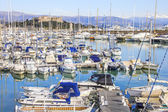 Boats in the port of Antibes, Cote d'Azur — Stock Photo