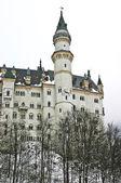 Neuschwanstein castle during the winter — Stock Photo