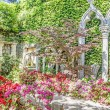 Spanish garden in Saint Jean Cap Ferrat, French Riviera — Stock Photo