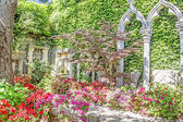 Spanish garden in Saint Jean Cap Ferrat, French Riviera — Stock Photo