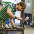 Glass production in Biot, France - Stock Photo