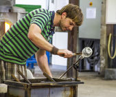 Glass production in Biot, France — Stock Photo