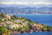 Aerial view of the French Riviera — Stock Photo
