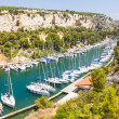 Port Pin in the calanques of Cassis, south of France — Stock Photo