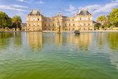 Il senato francese e il jardin du luxembourg, parigi, francia — Foto Stock