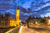Big Ben by night, London, England — Stock Photo
