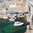 Boats in the Vallon des Auffes, Marseilles, France — Stock Video