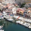 View of Vallon des Auffes, Marseilles, France — Stock Video