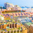 View of Monaco and the Stadium Louis-II — Stock Photo