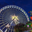 Stock Photo: Christmas decoration and ferries wheel in Nice, France