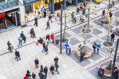 People walking along the Zeil street in Frankfurt, Germany — Foto de Stock