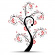 Vector illustration of a love tree on isolated white background. — Stock Vector #10091593