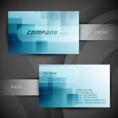 Abstract professional and designer business card template or vis — Stock Vector