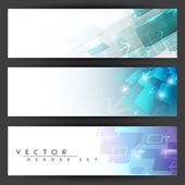 Website header or banner set. EPS 10. — Stock Vector