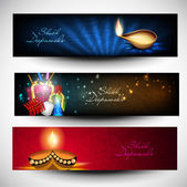 Website headers or banners for for Hindu community festival Diwa — Stock Vector