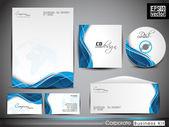 Identidad corporativa profesional kit o kit de negocio con artisti — Vector de stock