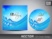 CD cover design template with text space. EPS 10. — Stock Vector
