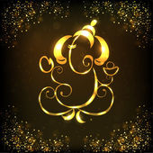 Creative shiny illustration of Hindu Lord Ganesha. EPS 10. — Stock Vector