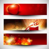 Sito web intestazioni o banner con il concetto di amore. eps 10. — Vettoriale Stock
