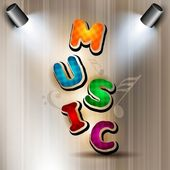 Stylized retro musical background. — Stock Vector