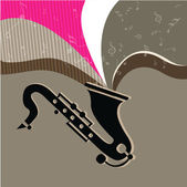 Music concept with Saxophone. EPS 10. — Stock Vector