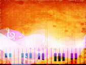 Stylized retro musical background. — Vector de stock
