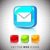 набор иконок символ сообщение глянцевой 3d веб 2.0. eps 10. — Cтоковый вектор