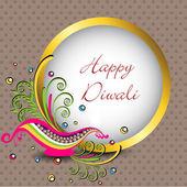 Beautiful illuminating Diya background for Hindu community festi — Stock Vector