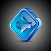 Glossy 3D web 2.0 sound symbol icon set. EPS 10. — Stock Vector