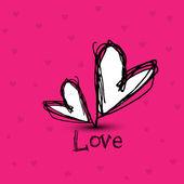 Yürekleri sevgi kavramı. eps 10 — Stok Vektör