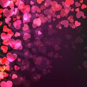 Liefde concept met harten. eps 10 — Stockvector