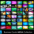 Vector de stock : Mega collection of 64 slim professional and designer business ca