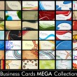 Stock Vector: Megcollection of 42 abstract professional and designer busines