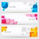 banner do site ou cabeçalho com design abstrato colorido. EPS 10 — Vetorial Stock
