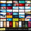 Vector de stock : Megcollection of 52 professional and designer business cards o