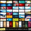 Mega collection of 52 professional and designer business cards o — Stock Vector