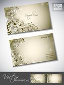 Plantilla de tarjeta profesional y diseño abstracto o vis — Vector de stock