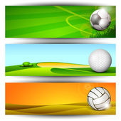 Sports website headers or banners. EPS 10. — Stock Vector
